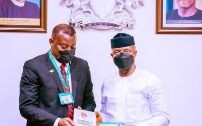 DG NIIA PAYS A COURTESY VISIT TO THE VICE PRESIDENT AT THE ASO ROCK VILLA, FCT ABUJA